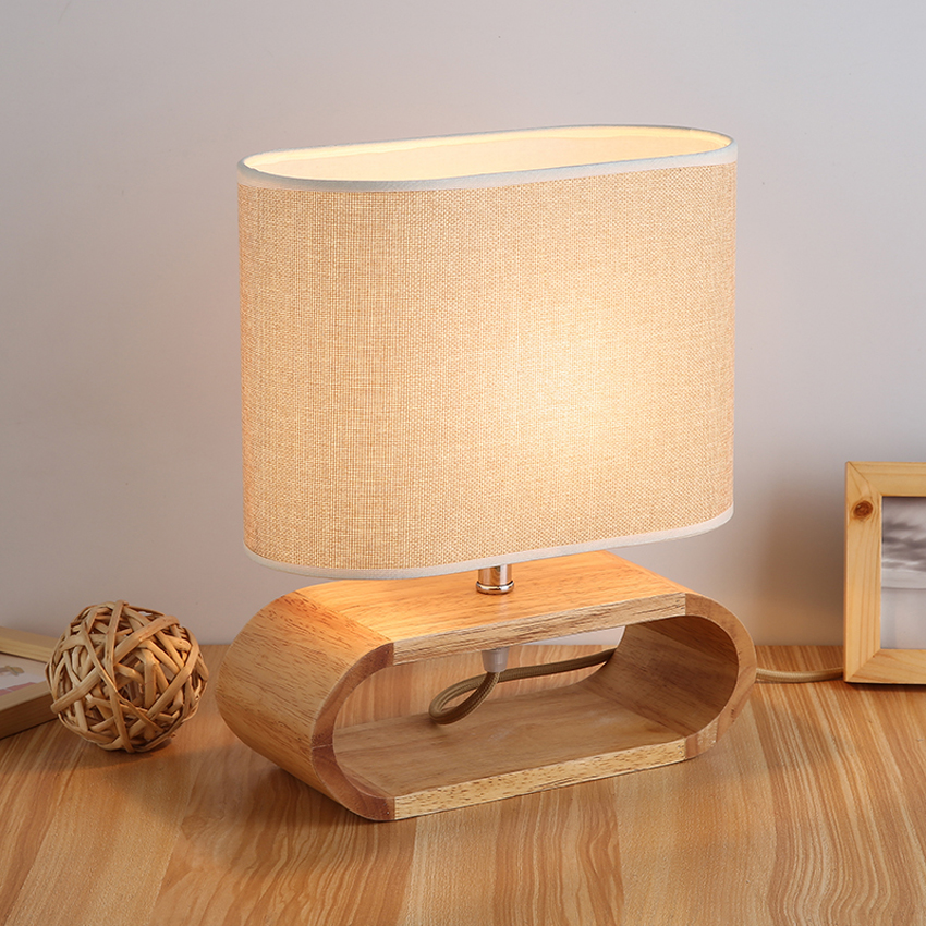 Charming Modern Table Lamp Wood Base Cloth Lampshade Table Lamps For Living Room  Bedroom Bedside Lamp Desk Lamp Reading Lights Fixture In LED Table Lamps  From Lights ...