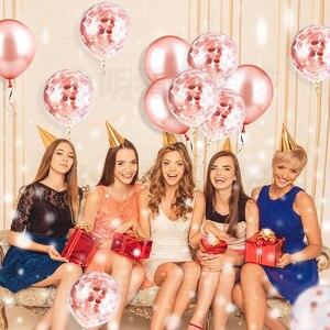 Image 4 - 20pcs עלה זהב מעורב בלוני חתונת יום הולדת שולחן קישוט תינוק מקלחת ילד ילדה תרנגולת מסיבת רווקות DIY חדש שנה
