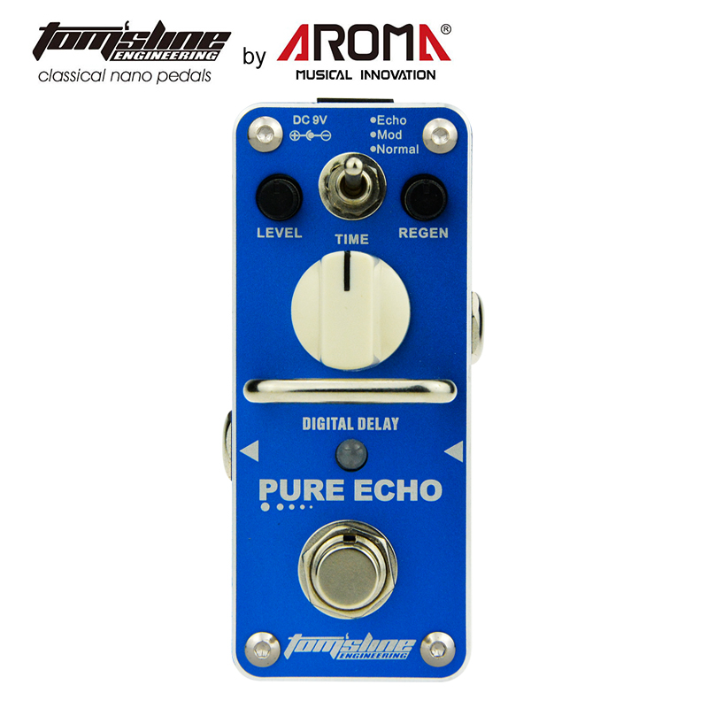 Aroma APE-3 Pure Echo Digital Delay Electric guitar effect pedal True Bypass aroma adl 1 aluminum alloy housing true bypass delay electric guitar effect pedal for guitarists hot guitar accessories