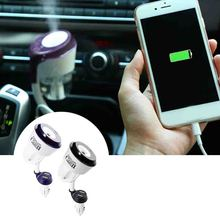 Behokic Dual USB Charger Port Essential Oil Aroma Diffuser Ultrasonic Cool Mist Fresh Purification Portable Car
