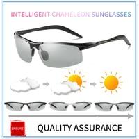 Aluminium Alloy Photochromic Men Polarized Sunglasses Driving Day and Night Vision Goggles Discolor Sun Glasses Eyeglasses8177BS