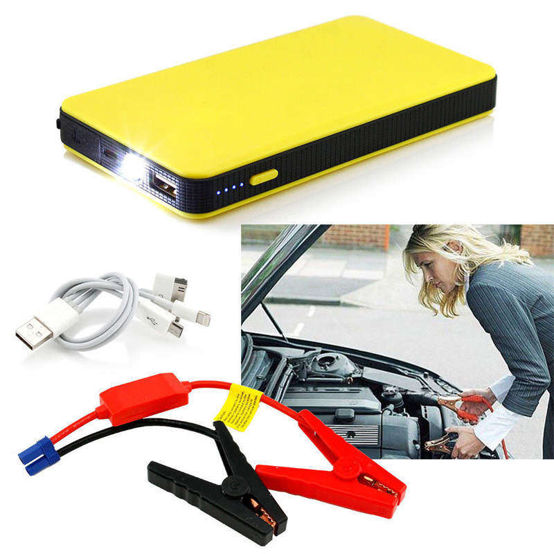 8000mAh Jump Starter Auto Car Power Bank Battery Charger Vehicle External Start LED Light 12V Portable Hight Quality Accessories