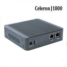 2017 Новый Mini PC J1800 двухъядерный дешевые безвентиляторный pfsense типы межсетевого экрана 2 Intel GbE NIC Dual LAN Mini PC с 4 ГБ Оперативная память 64 ГБ SSD