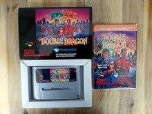 16Bit Giochi ** Super DOUBLE DRAGON (Francese PAL Versione!! Box + Manuale + Cartuccia!!)
