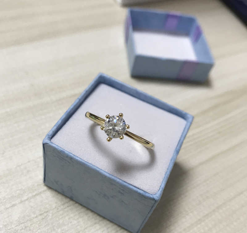 95% オフ! ミニマリストオリジナル 925 スリヴァーの結婚指輪シンプルなゴールドカラーの婚約指輪の約束リング KR0753