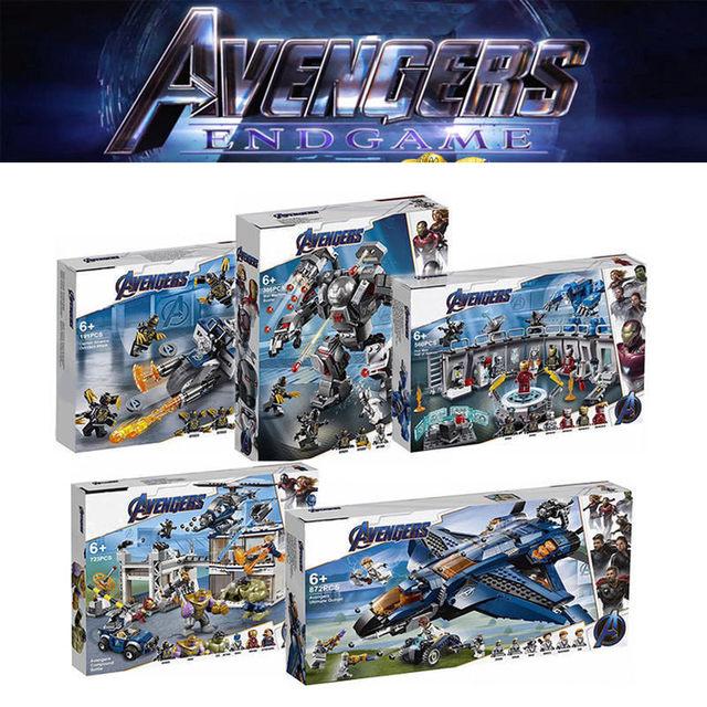 Endgame Legoing Avengers Marvel Super-heróis homem De Ferro Marvel Avenger Presente Brinquedo Tijolos de Bloco de Construção Presente Do Menino Do Miúdo