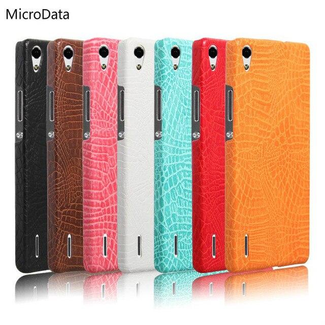 MicroData For Huawei Ascend P7  Luxury Crocodile Pattern Case  On P7 P7-L10 P7-L00 P7-L05 P7-L11  Hard PU Leather Phone Case