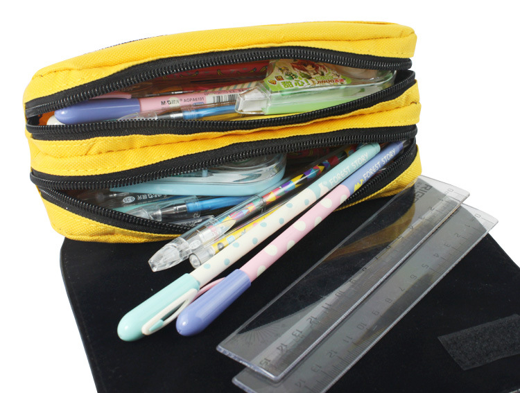 Pocket Monster Wallet Picacho Pen Animation Large Capacity Zipper Pencil Bags Stationery Bag Pokemon Go Fun Game Pikachu Wallets