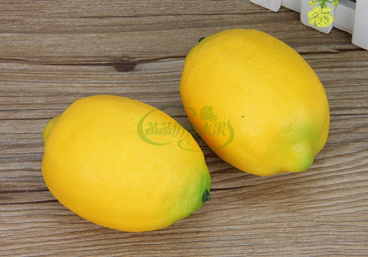 3pcs 10cm*6.7cm Artificial Simulation Cute Yellow Lemon Fruit Home Photograhpy Decorative Fruit 04016011
