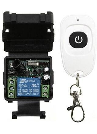 5 zestaw/partia DC12V 24 V 1CH Mini bezprzewodowy RF zdalnego sterowania przełącznik światła 10A wyjście przekaźnikowe Radio moduł odbiornika + nadajnik /okiennice w Piloty zdalnego sterowania od Elektronika użytkowa na  Grupa 1