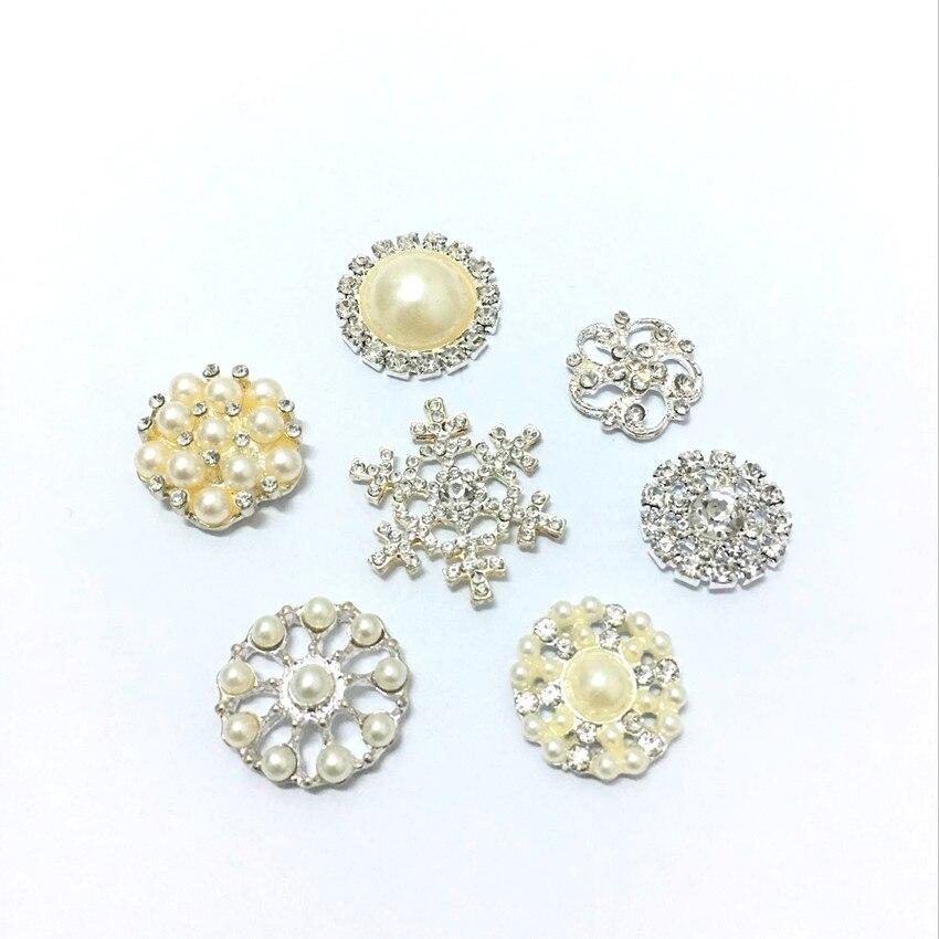 High quality Rhinestone pearl hair accessories for girl headband clips Free shipping 100pcs lot U Pick