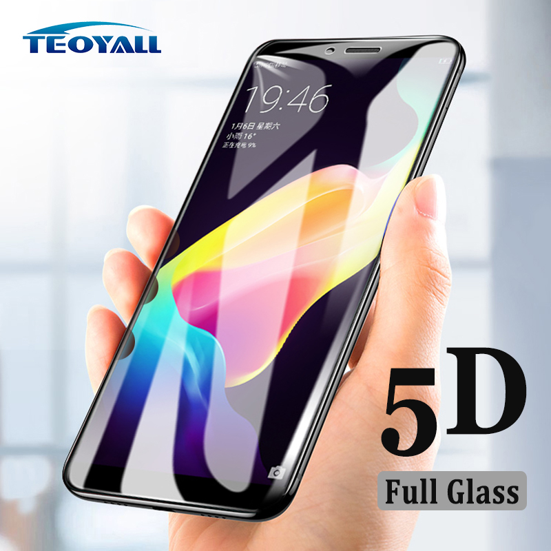 TeoYall 5D Edge Full Glass for oppo R15 R17 R11 Plus R11S Tempered Glass Screen Protector for OPPO R9 Plus R9S Protective Film