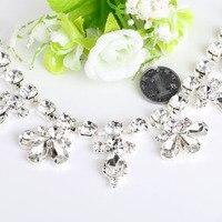 1 Yard Silver Base Rhinestone Cup Chain Crystal Rhinestone Sew Shoes Wedding Hair Accessories Diamond Paste