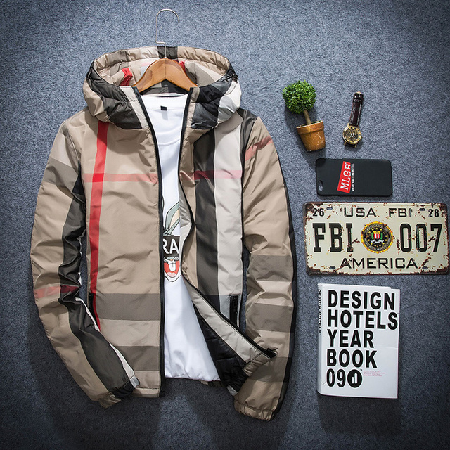 Top Design Winter Mens Plaid Jackets Waterproof Parka Homme Wellensteyn Jacket abrigos hombres invierno Plus Size With Hoodie