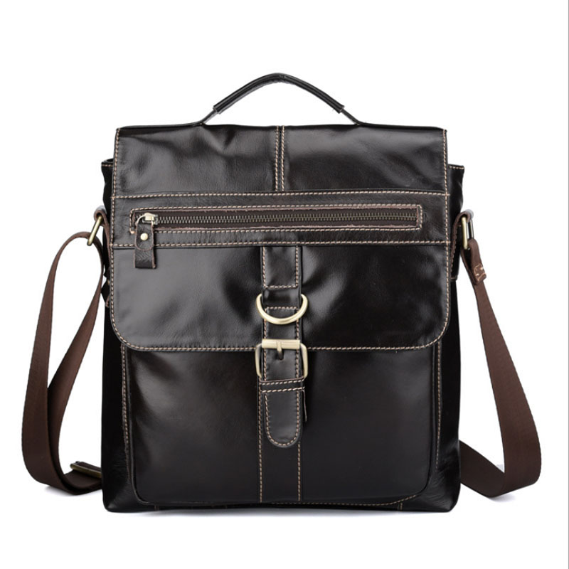 Men's Tote Genuine Leather First Layer Cowhide Fashion Handbag Vintage Shoulder Messenger Bags Wallet Business Bag Handbags new women vintage embossed handbag genuine leather first layer cowhide famous brand casual messenger shoulder bags handbags