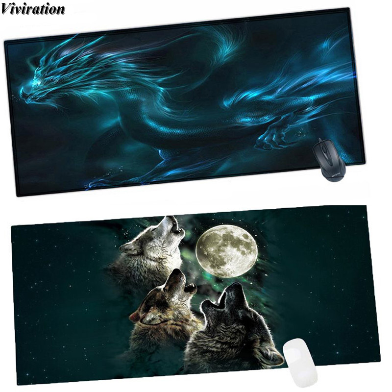 Viviration 90x40CM Stylish Large Size Rubber Computer Laptop Notebook PC Mouse Pad Mat Non-slip Gaming Mousepad Mat For Tablet