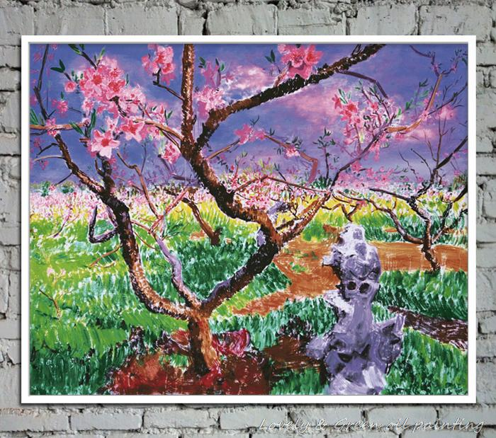 Famous Interior Paintings: Pink Wintersweet Copy Famous Oil Paintings Canvas Home