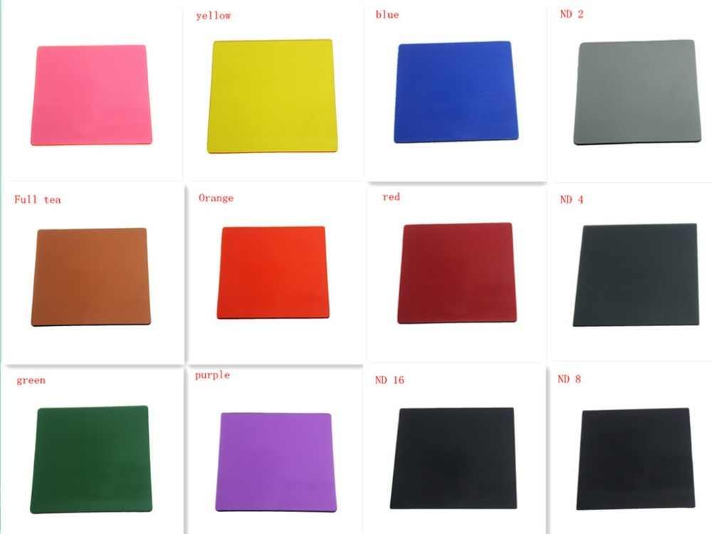 真新しいcokin pシリーズ色フルカラーフィルターシートサイドミラーグラデーションレンズ挿入フィルターフィルターnd2 4 8 16