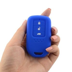 Image 3 - Yeni Stil silikon araba anahtarı kapağı Durum Için Honda Accord 9 Crider CRV HRV 3 Düğmeler Akıllı Araba Anahtarı koruyucu kabuk Aksesuarları