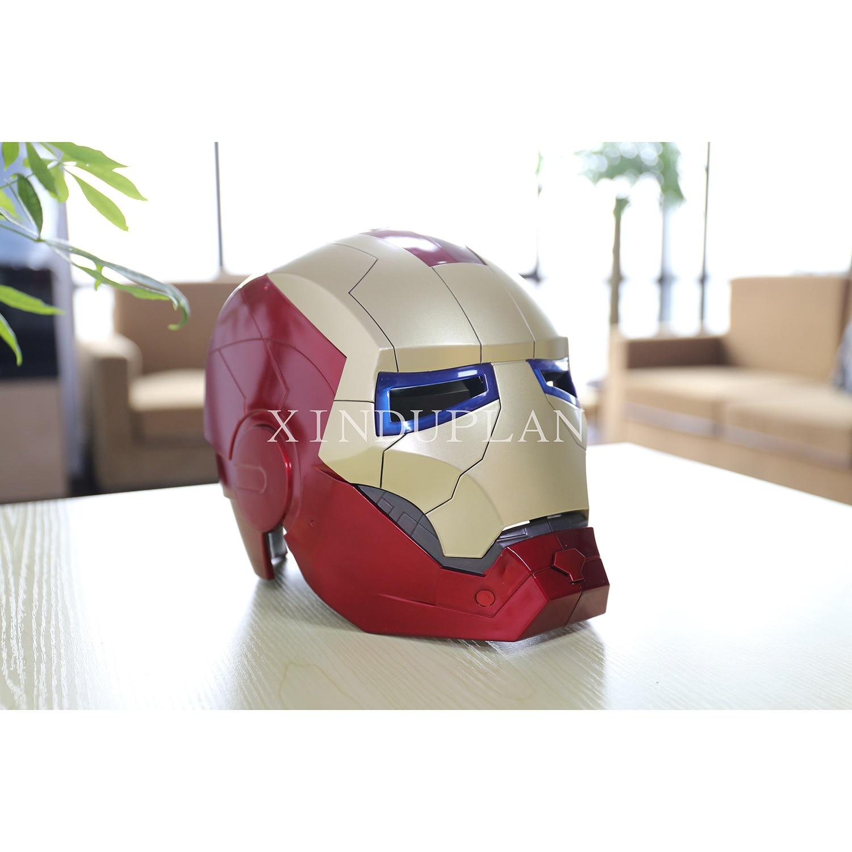 ФОТО XINDUPLAN Marvel Shield Movie Avengers iron Man Helmet Light Eye Cosplay Action Figure Toys 22cm Kids Collection Model 0294