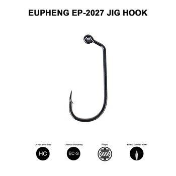 Eupheng Plus-anzuelo EP-2027 de acero al carbono, con púas negras, Aberdeen, fuerte,...