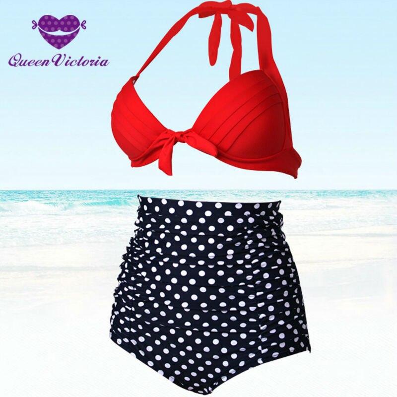 ԱՄՆ HOT Bikinis- ը սահմանում է Retro Plus Size S-XXXL - Սպորտային հագուստ և աքսեսուարներ - Լուսանկար 3