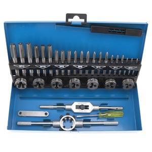 Image 3 - Zestaw gwintowników metrycznych ze stali stopowej 20 sztuk/32 sztuk M3 M12 narzędzie do gwintowania stali stopowej z futerał do przechowywania do obróbki metalu