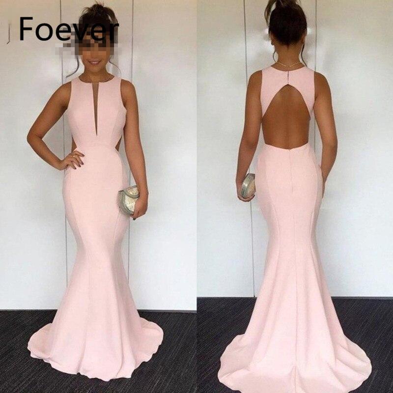 Robe de soirée Longue Rose robes de bal 2019 Sexy O Cou Keyhole Retour Balayage Train Soirée Femmes Robe de fête Élégant grande taille