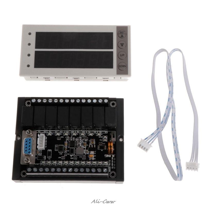 NEW PLC FX1N 20MR & Rail Type Housing & PLC Display Relay Module Delay Module 10 28V Reusable