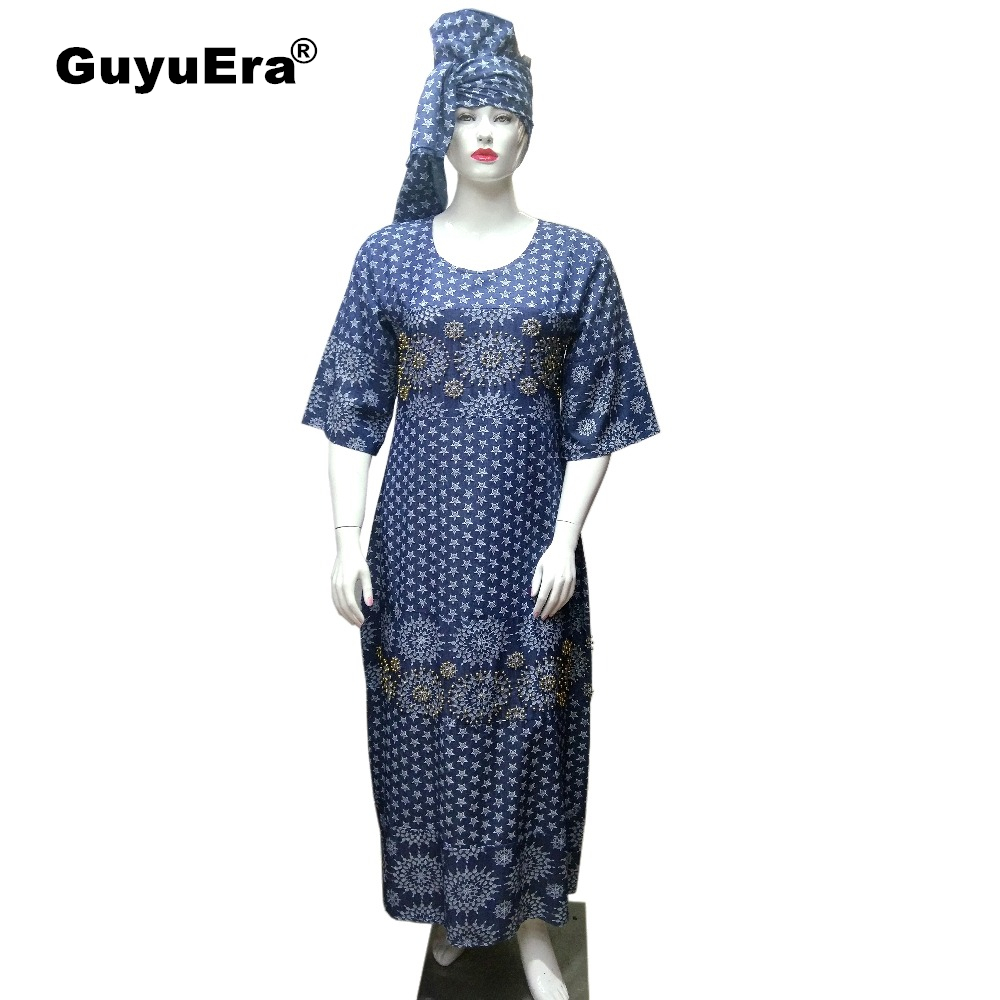 GuyuEra New African Cowboy Fabric Printing and Embroidery Rhinestone Nail Bead Craft Decoration Include Headscarf Plus