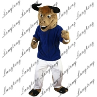 2018 New Hot Sale Hercules Cattle Bull Mascot Costume Adult Size Halloween Outfit Fancy Dress Suit Free Shipping