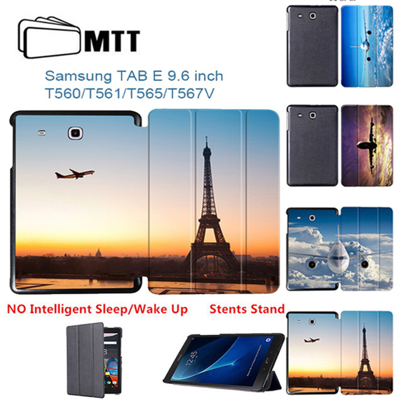 Boeing Aircraft Case Cover For Samsung Galaxy Tab 9.6 e T560 T561 SM-T561 T565 Case kids Flip PU Leather Tablet Protection Shell