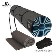 Matymats Yoga Mat Set Высокое качество Non Slip TPE Mat Толстый 1/4 с безволосой йогой Полотенце Йога Стартер предпочтительнее Бесплатные носки