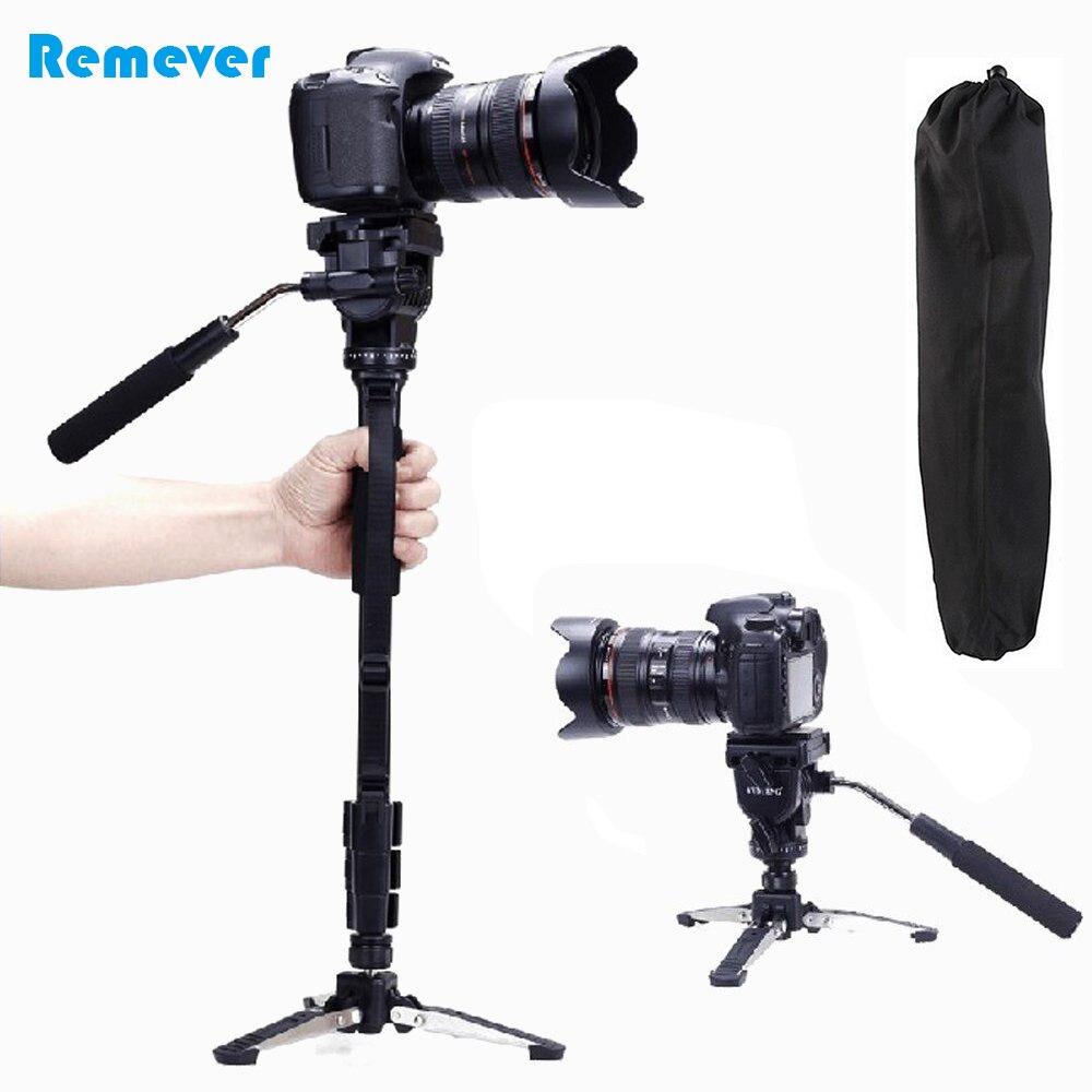 Monopode pour appareil photo professionnel + cardan à tête panoramique + Mini trépied pour Canon Nikon DSLR monopode extensible pour la photographie