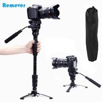Professional Camera Monopod+Pan tilt Head Gimbal+Mini Tripod For Canon Nikon DSLR Extendable Monopod For Photography