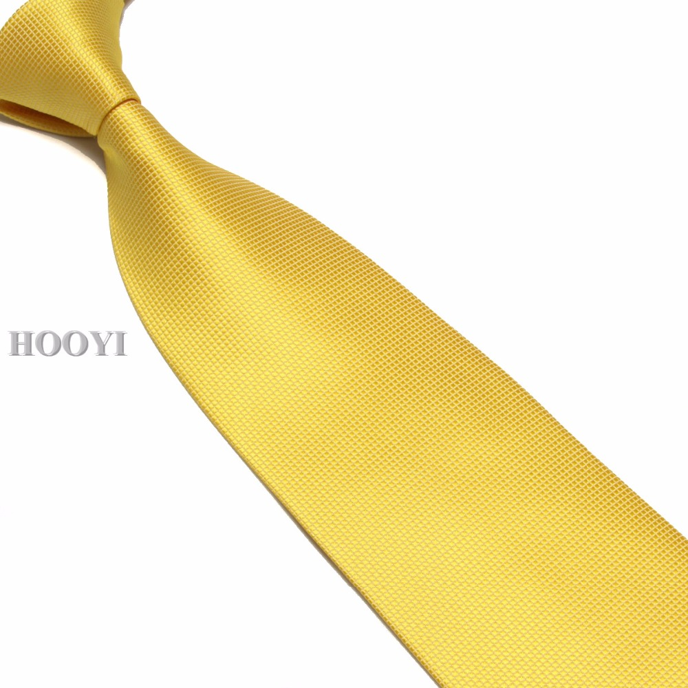 HOOYI 2018 mens ties neck tie solid plaid necktie high quality 15colors