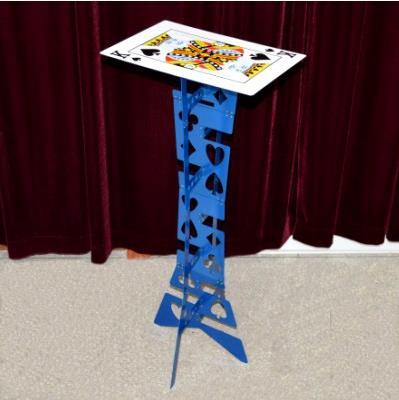 Table pliante magique en alliage d'aluminium, couleur bleue, meilleure table du magicien, tours de magie, scène, illusions, accessoires