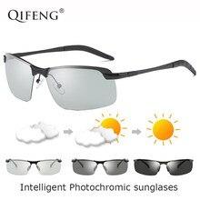 f187693708b8 QIFENG Polarisierte Photochrome Sonnenbrille Männer Marke Designer Fahrer Sonne  Gläser Für UV400 Männlich Fahren Angeln Oculos d.