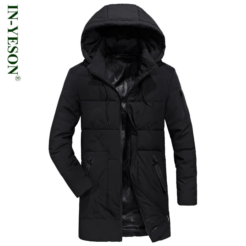 New Winter Male Jacket Military Hooded Long Parka Men Brand IN-YESON Thick Warm Padded Overcoat Man Jaqueta Masculino Inverno стоимость