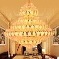 Светодиодная Современная хрустальная люстра с золотым цветком лотоса  люстры  осветительный прибор для дома  дома  лобби  виллы  большой цве...