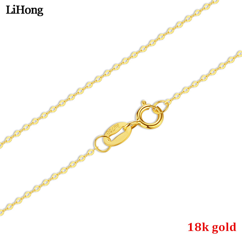 Véritable collier or 18 K 45 cm collier accessoires bijoux accessoires bricolage chaîne de base