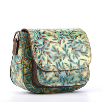 New Women Cross Body Bag Small Embossed Purse Retro Leisure Brush Color Pouch Genuine Leather Single Shoulder Messenger Bags