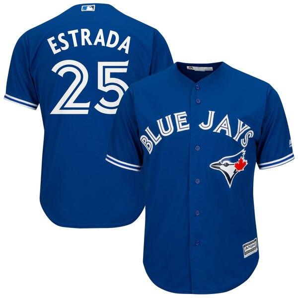 MLB Men\'s Toronto Blue Jays Marco Estrada 25 Baseball Royal Cool ...