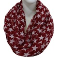Free Shipping 2016 Womens Burgundy Green Star Print Infinity Scarf Ring For Women Ladies