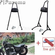 Black Motorcycle Detachable Sissy Bar Passenger Backrest for 2004-2017 HARLEY SPORTSTER XL 883 1200 цены онлайн