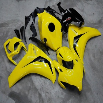 Custom motorcycle Fairings for CBR1000RR 2008 2009 2010 2011 motor panels+Botls+Injection mold yellow