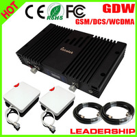 Mobile Repeater Tri Band Signal Amplifier GSM 900mhz DCS 1800MHZ WCDMA 3G 2100MHZ GSM Repeater Tri