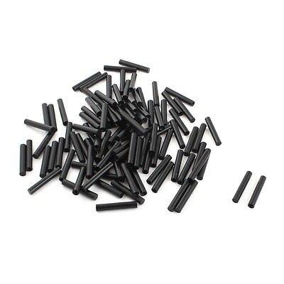 все цены на Free Shipping 100Pcs 6x35mm Flat Ended PCB Test Fixture Parts Plate POM Pressure Bar Black онлайн