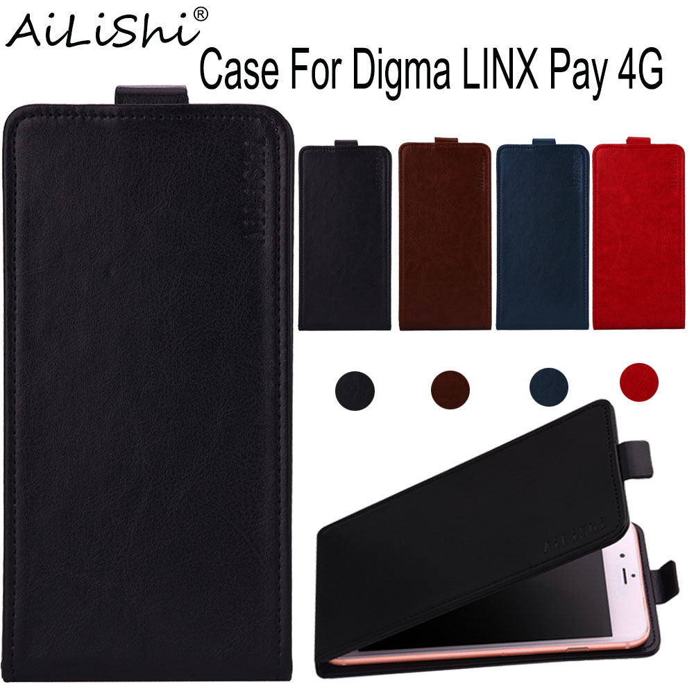 AiLiShi Case For Digma LINX Pay 4G Luxury Flip Top Quality Leather Case Digma Exclusive 100% Phone Protect Cover Skin+Tracking image