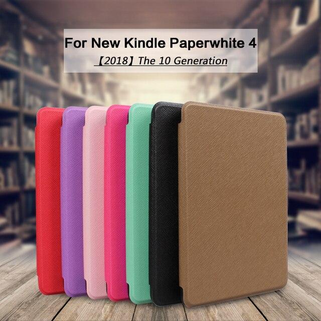 Funda inteligente magnética para 2018 Amazon Kindle Paperwhite 4 funda abatible para nuevo Kindle Paperwhite Kindle 10 generación